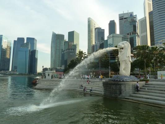 Le Merlion, à Singapour