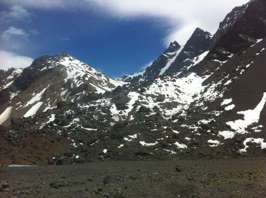 Je ne me lasse pas de ces paysages dans les Andes, entre l'Argentine et le Chili.
