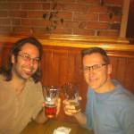 Moi, deux pintes de bonnes bières et Mario