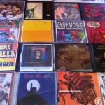 Quelques-uns des disques que j'ai rapportés de mon voyage...