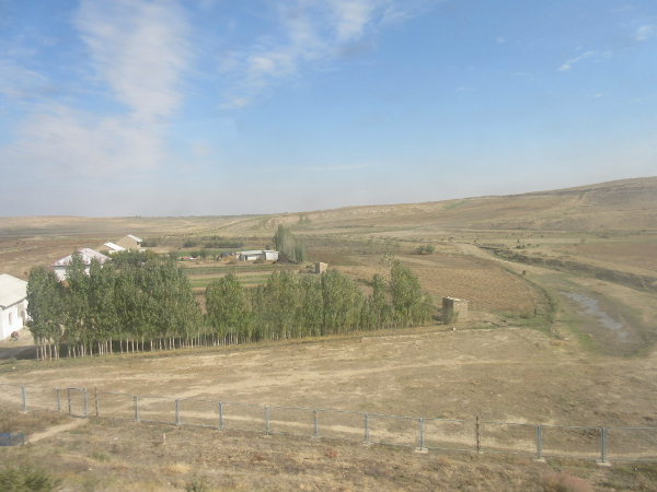 Paysage entre Samarcande et Tachkent